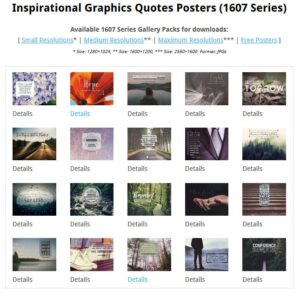 Inspirational Graphics Quotes Posters