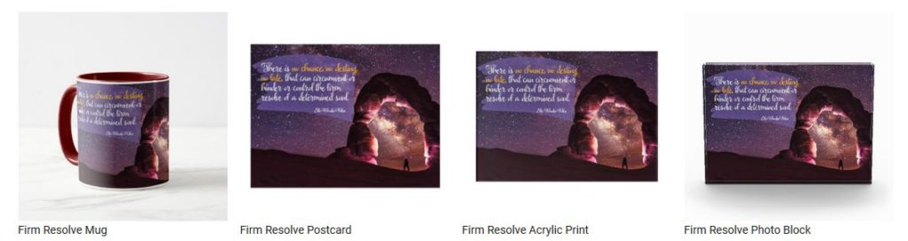 Firm Resolve by Ella Wheeler Wilcox Customized Inspirational Products