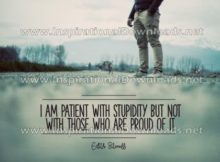 Patient with stupidity by Edith Sitwell