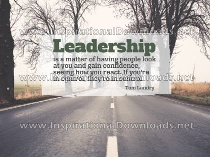 Leadership by Tom Landry (Inspirational Downloads)