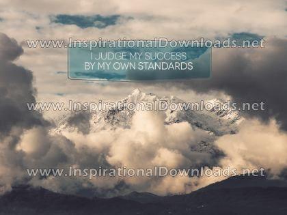 Judge My Success Positive Affirmation (Inspirational Downloads)