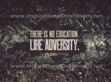 Education In Adversity by Disraeli (Inspirational Downloads)