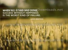 Success Without Happiness by Louis Binstock (Inspirational Downloads)