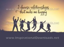 Relationships That Make Me Happy by Positive Affirmation (Inspirational Downloads)