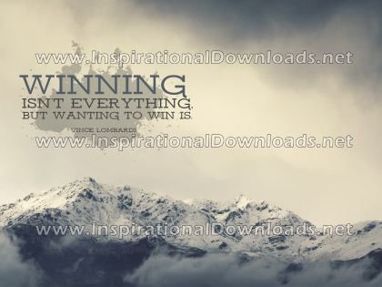 Wanting To Win by Vince Lombardi (Inspirational Downloads)