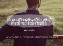 One Voice by Malala Yousafzai (Inspirational Downloads)