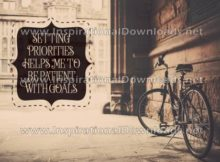 Setting Priorities by Positive Affirmations (Inspirational Downloads)