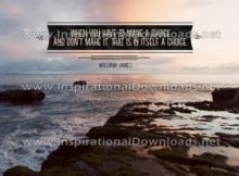 Make A Choice by William James (Inspirational Downloads)