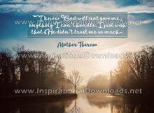 God's Trust by Mother Teresa (Inspirational Downloads)