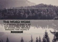 The Word WORK by Daymond John (Inspirational Downloads)
