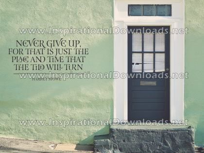 Never Give Up by Harriet Stowe (Inspirational Downloads)