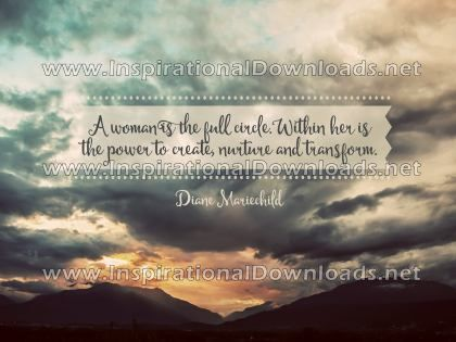 Woman Is The Full Circle by Diane Mariechild (Inspirational Downloads)