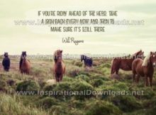 Ahead Of The Herd by Will Rogers (Inspirational Downloads)
