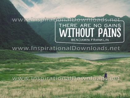 Gains Without Pains by Benjamin Franklin (Inspirational Downloads)
