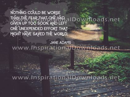 Giving Up Too Soon by Jane Adams (Inspirational Downloads)