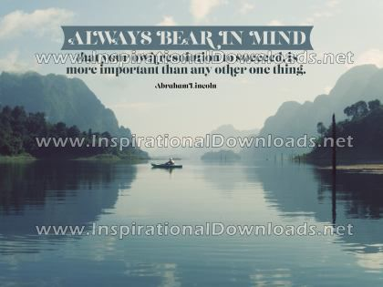 Resolution To Succeed by Abraham Lincoln (Inspirational Downloads)