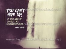 Can't Give Up by Chris Evert (Inspirational Downloads)