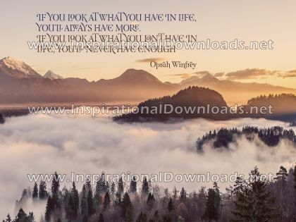 What You Have In Life by Oprah Winfrey (Inspirational Downloads)