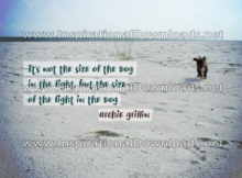 Size of the Fight by Archie Griffin (Inspirational Downloads)