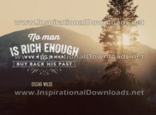 No Man Is Rich Enough by Oscar Wilde (Inspirational Downloads)