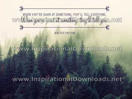 Great At Something by Walter Payton (Inspirational Downloads)