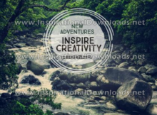 New Adventures Inspire Creativity by Positive Affirmations (Inspirational Downloads)