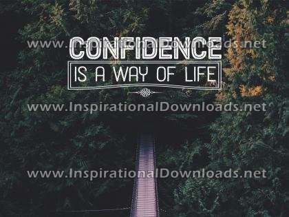 Confidence Is A Way Of Life by Positive Affirmations (Inspirational Downloads)