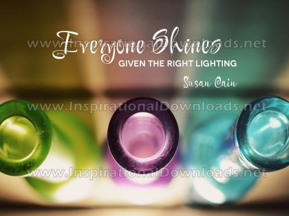 Everyone Shines by Susan Cain (Inspirational Downloads)
