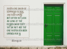 Door Of Happiness by Helen Keller (Inspirational Downloads)