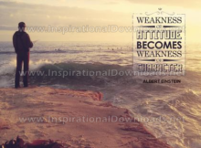 Weakness Of Attitude by Albert Einstein (Inspirational Downloads)