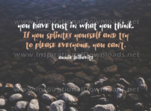 Trust In What You Think by Annie Leibovitz (Inspirational Downloads)