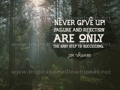Inspirational Quote: First Step To Succeeding by Jim Valvano (Inspirational Downloads)