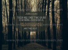 Inspirational Quote: Two Rules For Being Successful by Mario Cuomo (Inspirational Downloads)