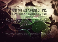 Lose A Couple Of Times by Steffi Graf (Inspirational Downloads)