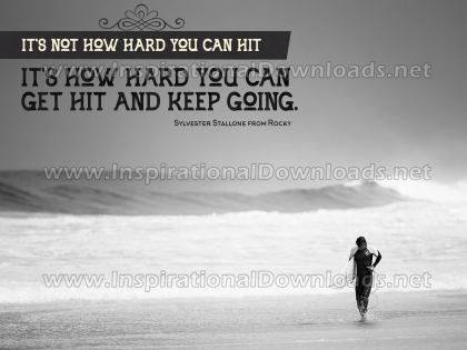 Keep Going by Sylvester Stallone (Inspirational Downloads)