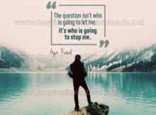 Who Is Going To Stop Me by Ayn Rand (Inspirational Downloads)