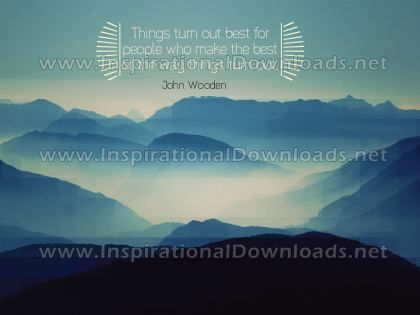 The Way Things Turn Out by John Wooden (Inspirational Downloads)