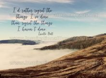 Regret The Things by Lucille Ball (Inspirational Downloads)