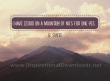 Stood On A Mountain by B. Smith (Inspirational Downloads)