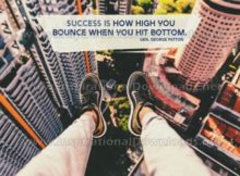 Inspirational Quote: How High You Bounce by Gen. George Patton (Inspirational Downloads)