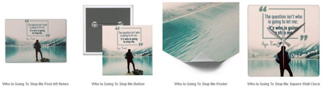 Who Is Going To Stop Me Customized Products (Inspirational Downloads)