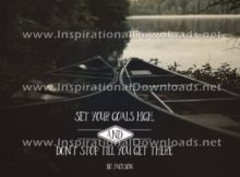 Inspirational Quote: Set Your Goals High by Bo Jackson (Inspirational Downloads)
