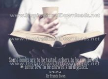 Inspirational Quote: Books by Sir Francis Bacon (Inspirational Downloads)