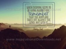 Inspirational Quote: Against The Wind by Henry Ford (Inspirational Downloads)