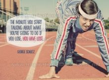 Inspirational Quote: Talking About Losing by George Schultz (Inspirational Downloads)