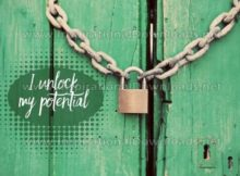 Inspirational Quote: Unlock My Potential by Positive Affirmations (Inspirational Downloads)