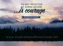 Inspirational Quote: Woman's Best Protection by Elizabeth Cady Stanton (Inspirational Downloads)