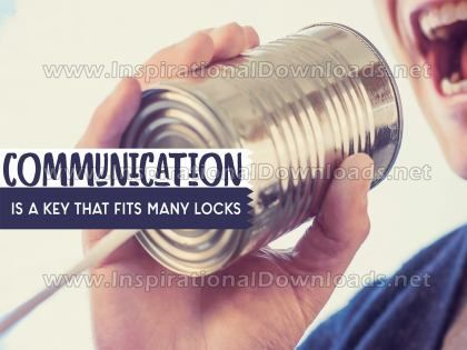 Inspirational Quote: Communication Is A Key by Positive Affirmations (Inspirational Downloads)