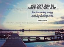 Inspirational Quote: Learning To Walk by Richard Branson (Inspirational Downloads)