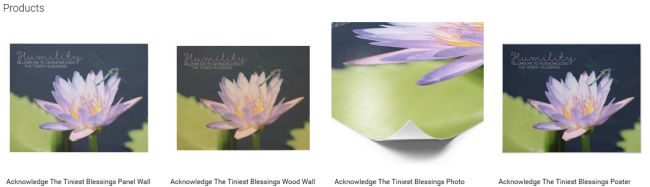 Inspirational Downloads Customized Products: Acknowledge The Tiniest Blessings Customized Products